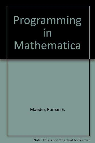 9780201548778: A Programming in Mathematica (2nd Edition)