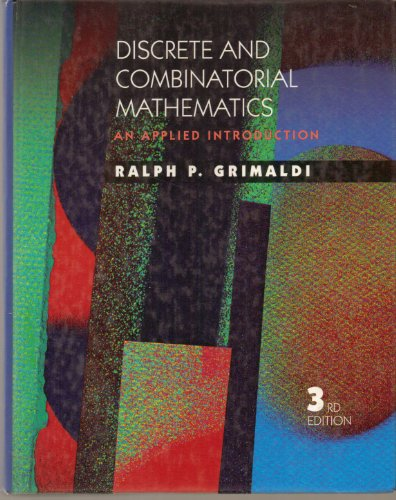9780201549836: Discrete and Combinatorial Mathematics: An Applied Introduction