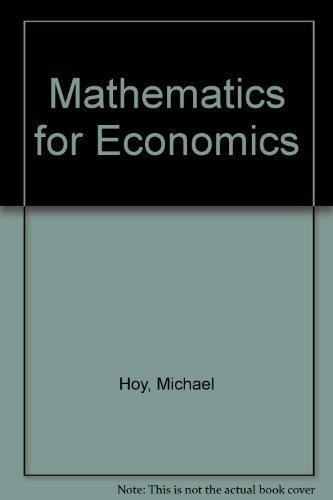 9780201553659: Mathematics for Economics