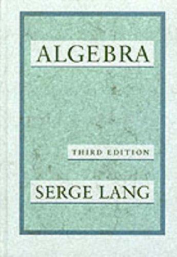 Algebra: Lang, Serge