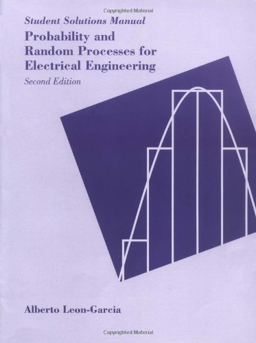 9780201557381: Probability and Random Processes for Electrical Engineering: Student Solutions Manual