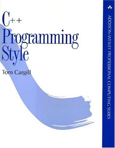 9780201563658: C++ Programming Style