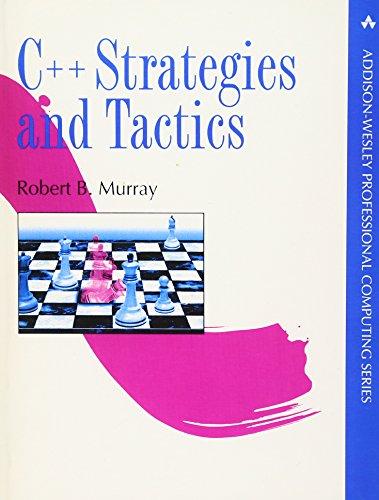 9780201563825: C++ Strategies and Tactics