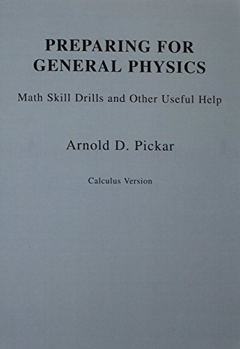 9780201569520: Preparing for General Physics: Skill Drills and Other Useful Help