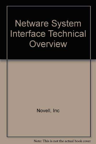 9780201570274: Netware System Interface Technical Overview