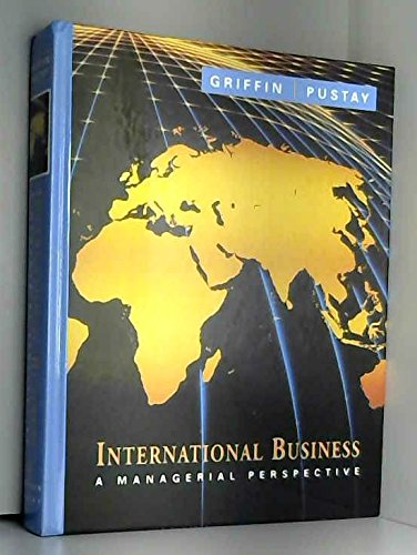 9780201586534: International Business: A Managerial Perspective