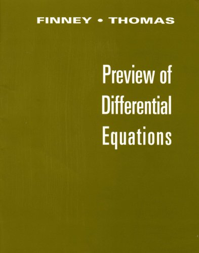 9780201587197: Preview of Differential Equations (Differential Equations Supplement)
