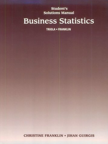 9780201589924: Student Solutions Manual for Business Statistics