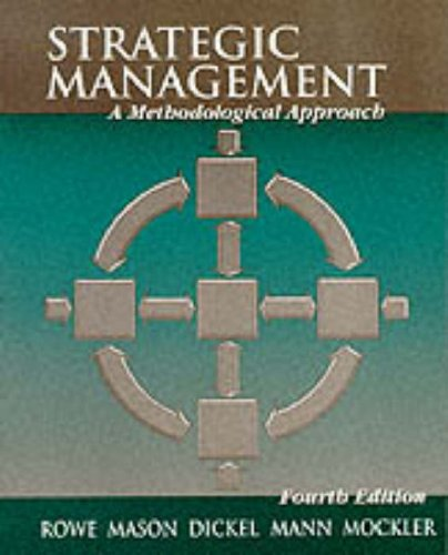 9780201600827: Strategic Management: A Methodological Approach