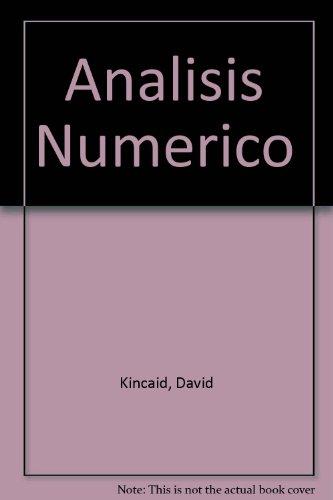 9780201601305: Analisis Numerico