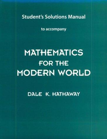 9780201611335: Mathematics for the Modern World