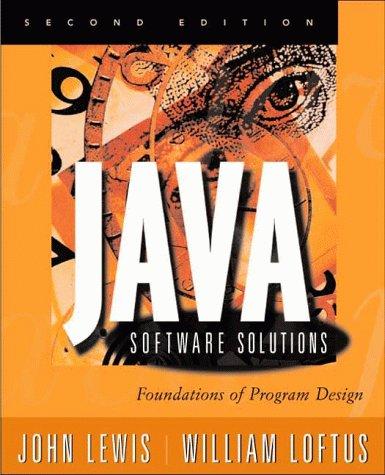 9780201612714: Java Software Solutions: Foundations of Program Design