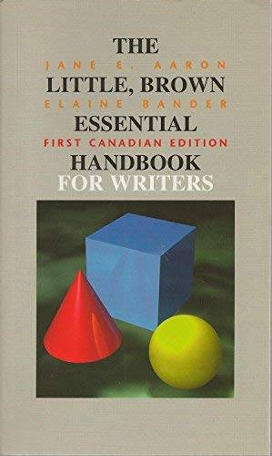 9780201613759: Little, Brown Essential Handbook for Writers, The: First Canadian Edition