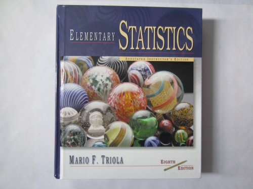 9780201614800: Elementary Statistics Annotated Instructor's Edition