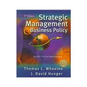 9780201615432: Strategic Management and Business Policy: Entering 21st Century Global Society