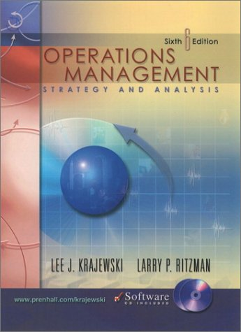 9780201615456: Operations Management: Strategy and Analysis (6th Edition)
