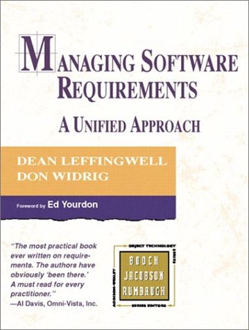 9780201615937: Managing Software Requirements: A Unified Approach