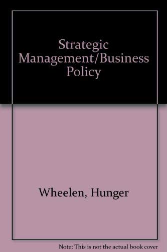 9780201618709: Strategic Management/Business Policy