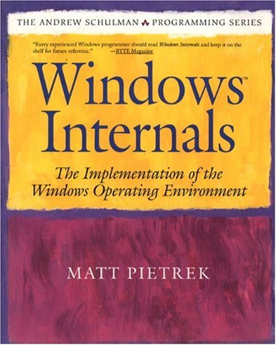 9780201622171: Windows Internals: The Implementation of the Windows Operating Environment: The Design and Implementation of the Windows Operating System (The Andrew Schulman programming series)