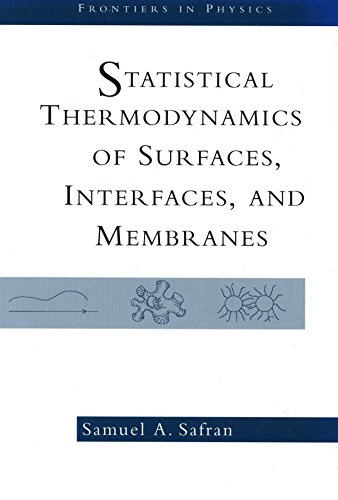 9780201626339: Statistical Thermodynamics Of Surfaces, Interfaces And Membranes (Frontiers in Physics)