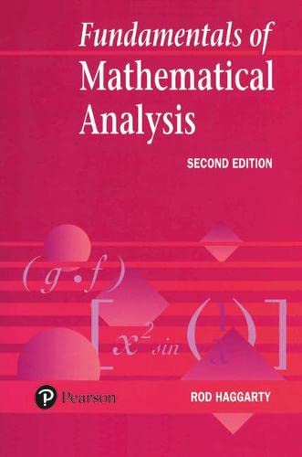9780201631975: Fundamentals Of Mathematical Analysis