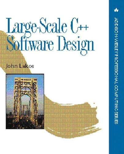 9780201633627: Large-Scale C++ Software Design (APC)
