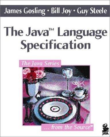 9780201634518: The Java Language Specification