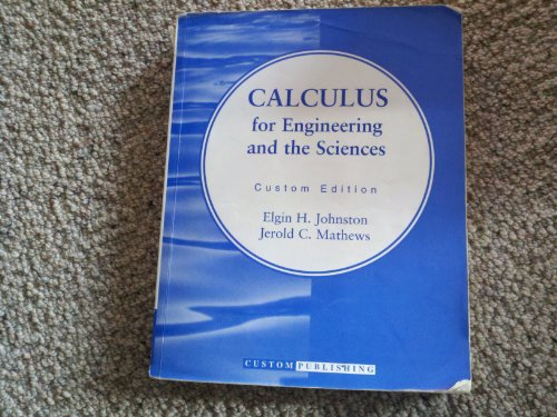 9780201636246: Calculus for Engineering and the Sciences