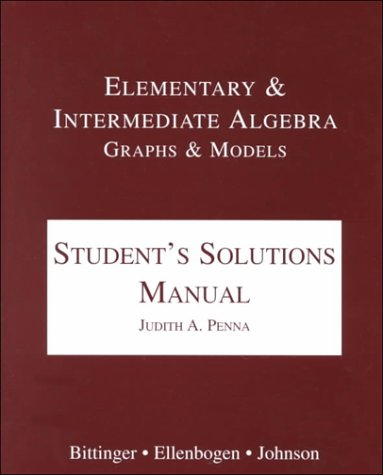 9780201636826: Elementary and Intermediate Algebra: Graphs and Models