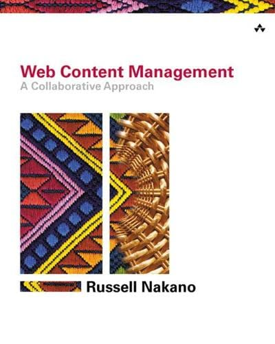 9780201657821: Web Content Management: A Collaborative Approach