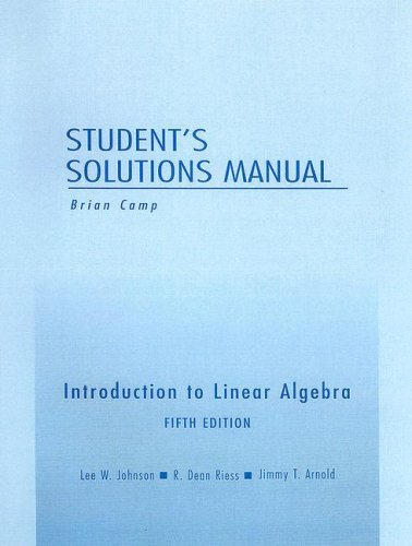 9780201658606: Student Solutions Manual for Introduction to Linear Algebra