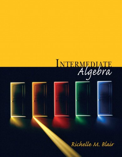 Intermediate Algebra (Blair Developmental Mathematics Series): Richelle M. Blair