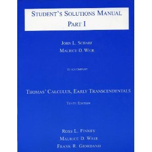 9780201662115: Student's Solutions Manual: To accompany Thomas' Calculus: Early Transcendentals, 10th Edition (pt. 1)