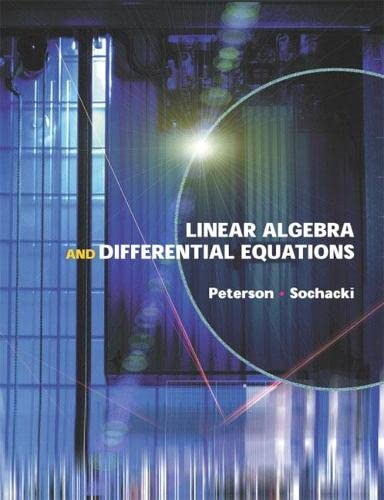 9780201662122: Linear Algebra and Differential Equations