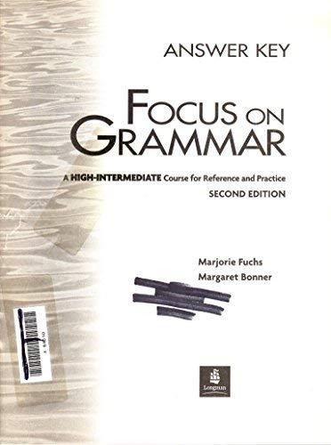 focus on grammar 3a answer key