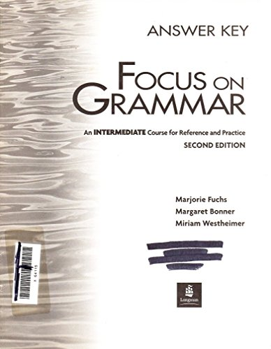 9780201670486: Focus on Grammar 2nd Edition: Focus on Gram Interm.Answer Key 2e