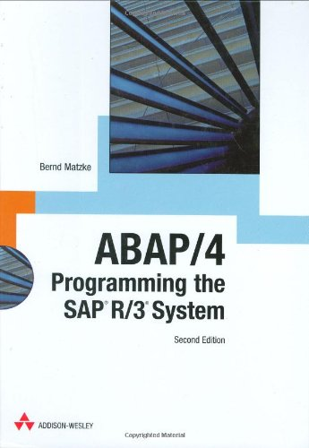 9780201675153: ABAP/4: Programming the SAP R/3 System