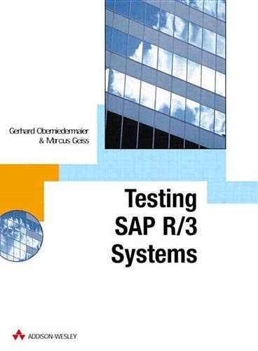 9780201675177: SAP R/3 Testing with CATT