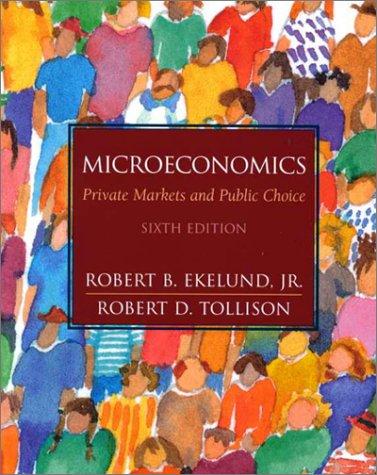 9780201680270: Microeconomics: Private Markets and Public Choice (6th Edition)