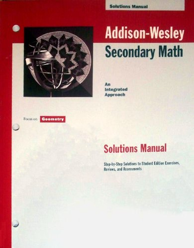 9780201692594: Focus on Geometry Solutions Manual