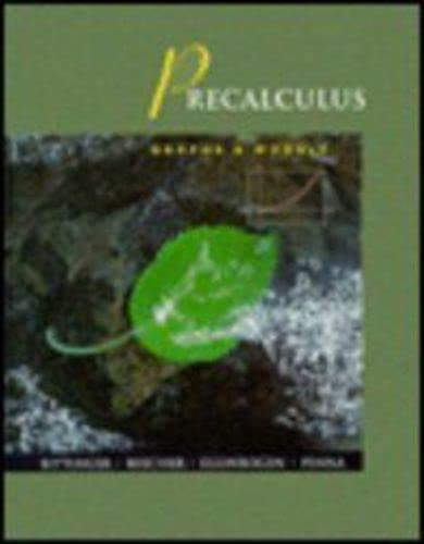 9780201694420: Precalculus: Graphs and Models