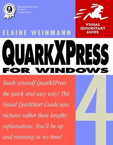 9780201696998: QuarkXPress 4 for Windows (Visual QuickStart Guide)