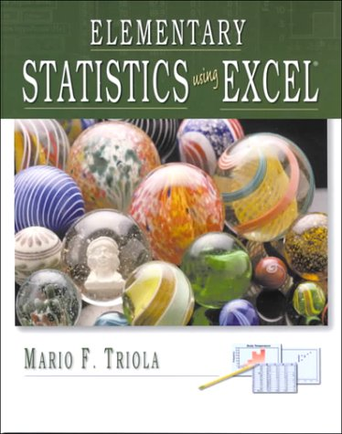 9780201699425: Elementary Statistics Using Excel