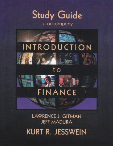 Introduction to Finance, Study Guide: Lawrence J. Gitman;
