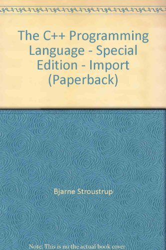 9780201702804: The C++ Programming Language - Special Edition - Import (Paperback)