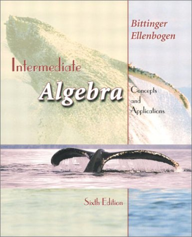 9780201708486: Intermediate Algebra: Concepts and Applications (6th Edition)