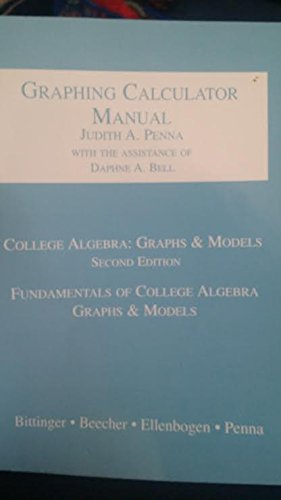 9780201708783: College Algebra: Graphs and Models