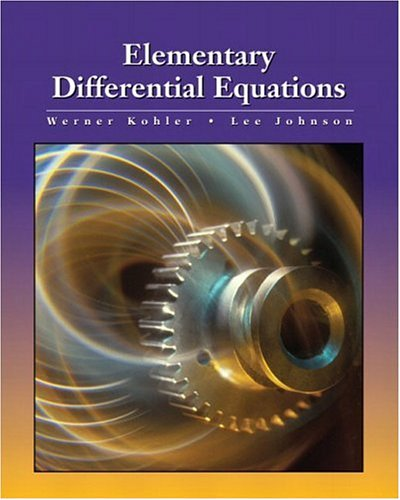 9780201709261: Elementary Differential Equations