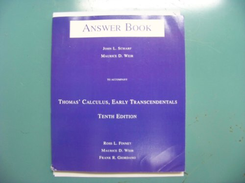 9780201710090: Calculus Early Trancendentals Answer Book