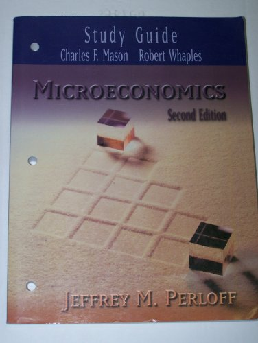 9780201710762: Microeconomics Study Guide for 2nd Edition